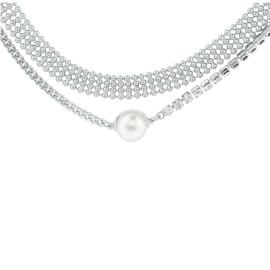Abyb Flash Pearl Double Layer Necklace V3