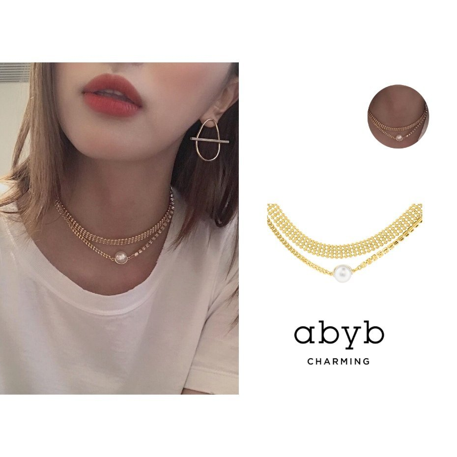 Abyb Flash Pearl Double Layer Necklace V4