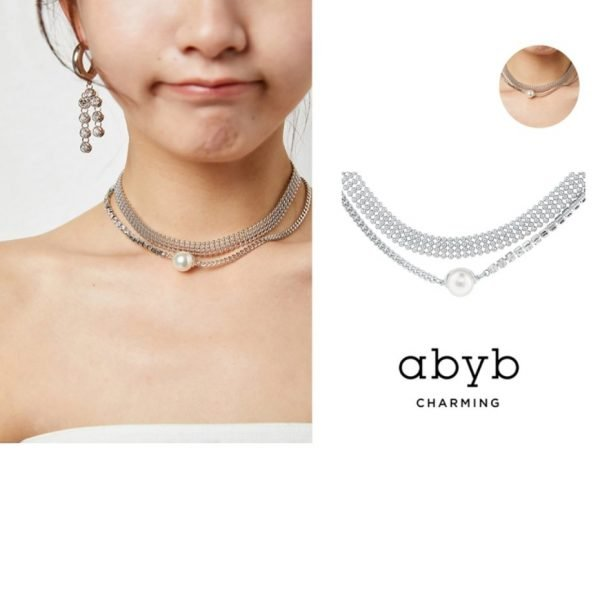 Abyb Flash Pearl Double Layer Necklace V5