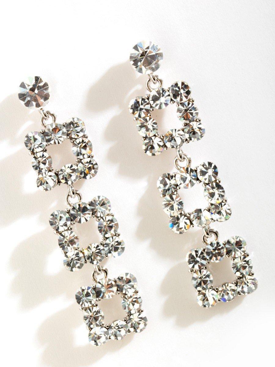 Flash Diamond Long Earrings V10