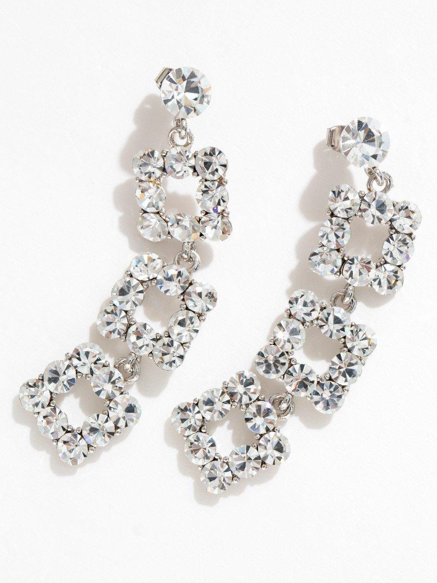 Flash Diamond Long Earrings V11