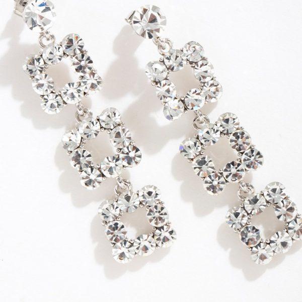 Flash Diamond Long Earrings V12