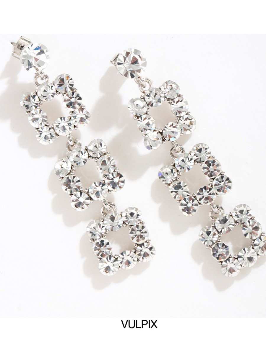 Flash Diamond Long Earrings V12