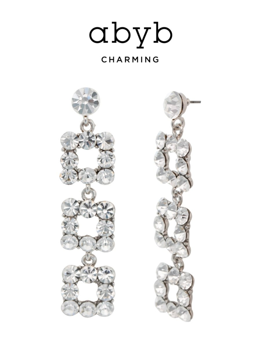 Flash Diamond Long Earrings V7