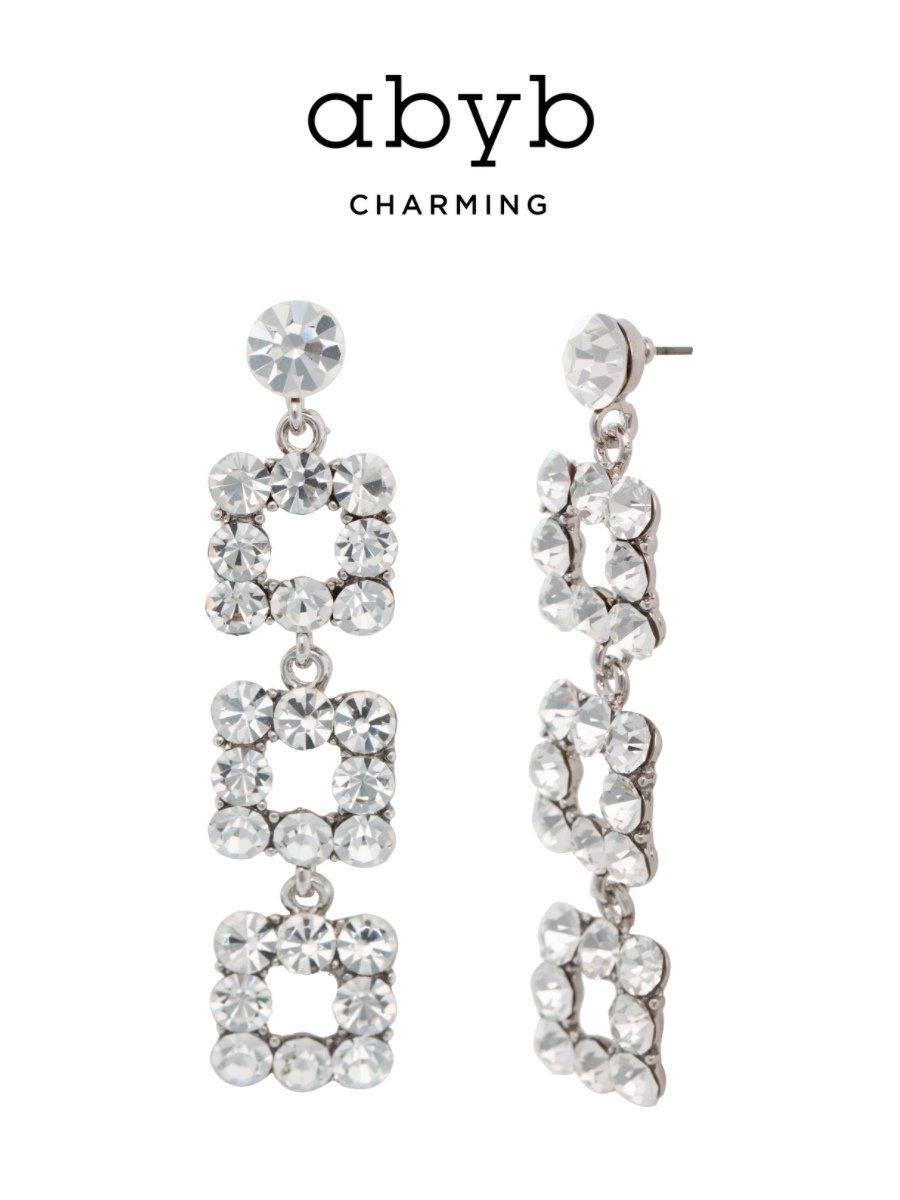 Flash Diamond Long Earrings V7