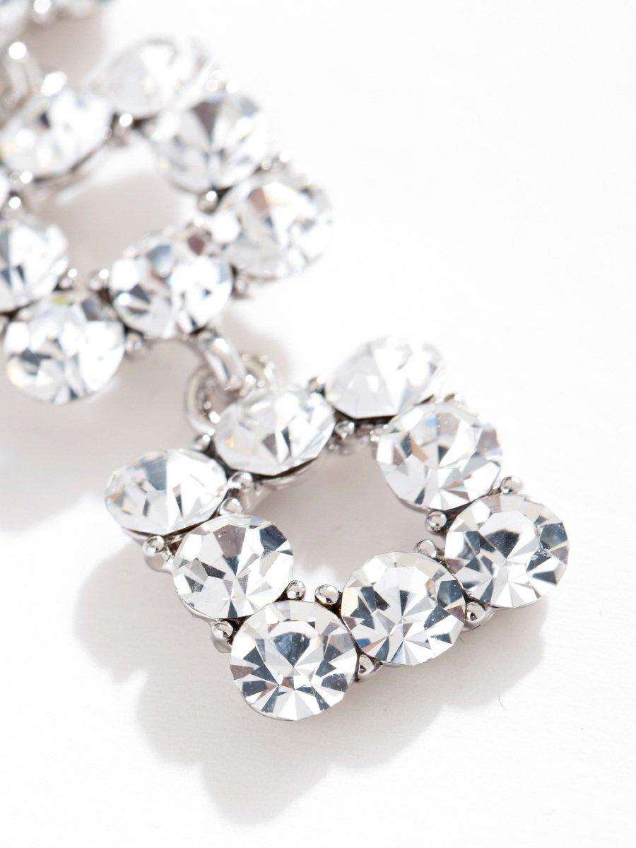 Flash Diamond Long Earrings V8