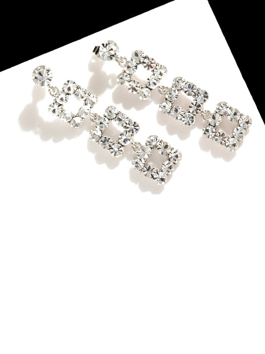 Flash Diamond Long Earrings V9