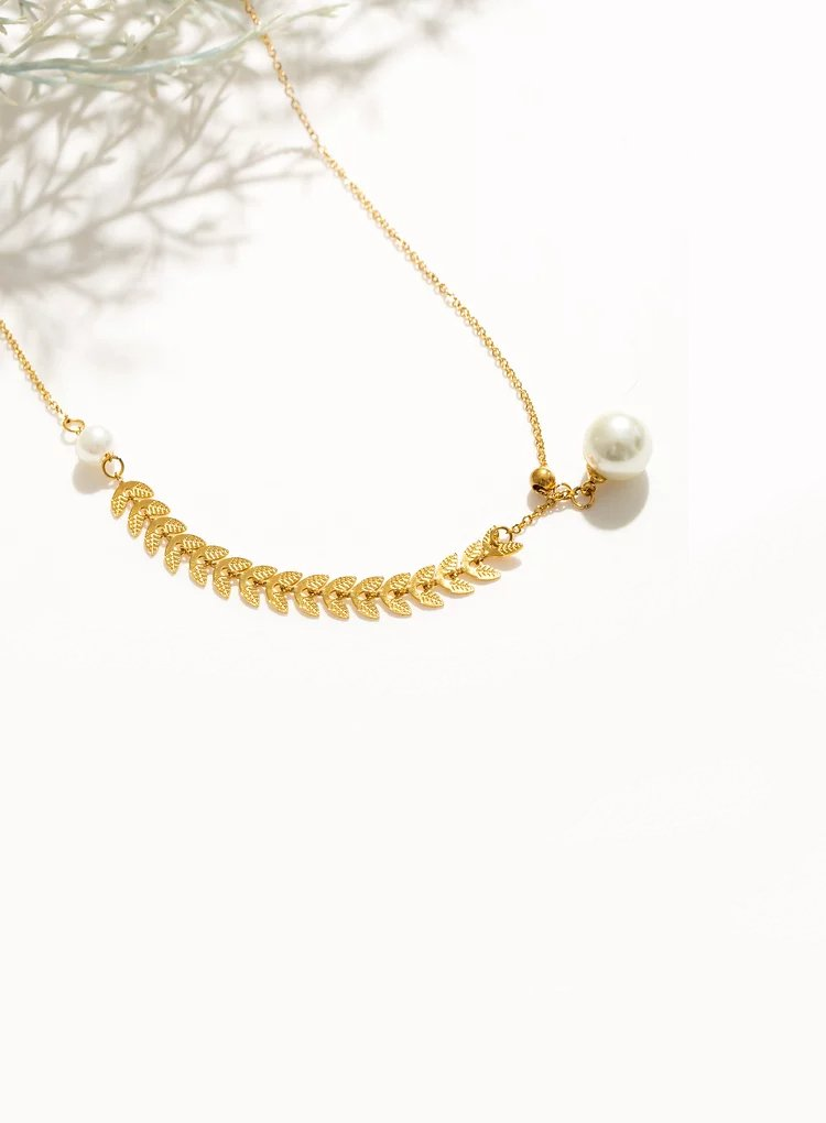 K2o Feather Pearl Necklace V10