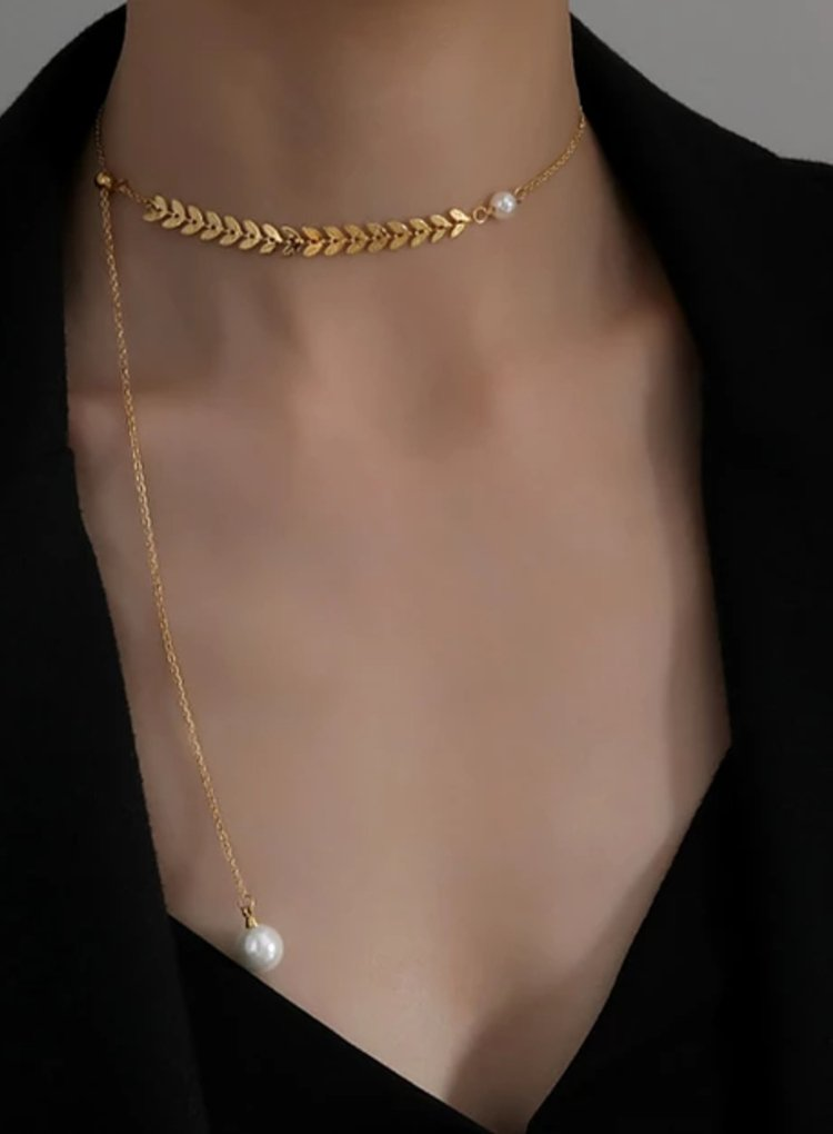 K2o Feather Pearl Necklace V2