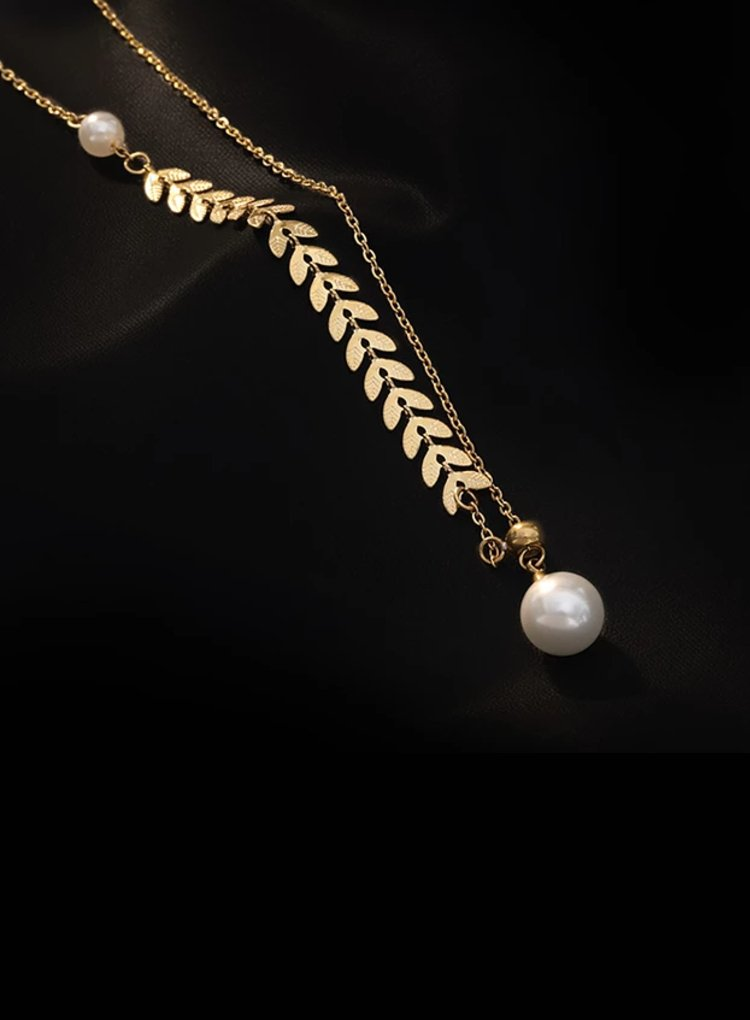 K2o Feather Pearl Necklace V4