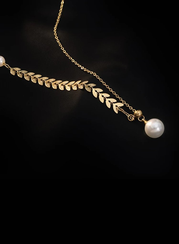K2o Feather Pearl Necklace V5
