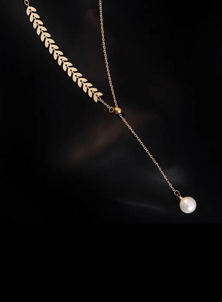 K2o Feather Pearl Necklace V7