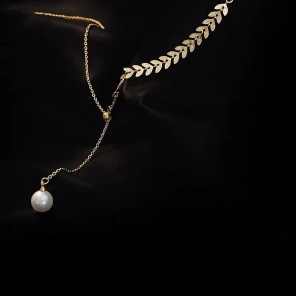 K2o Feather Pearl Necklace V8