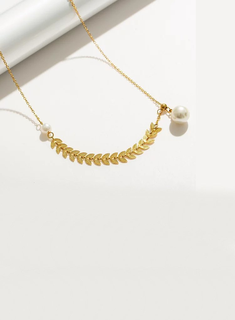 K2o Feather Pearl Necklace V9