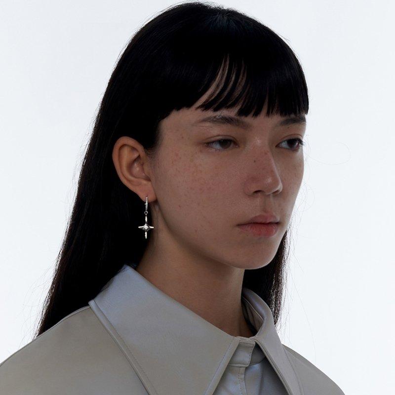 Kvk Diamond Temperament Cross Earrings V3
