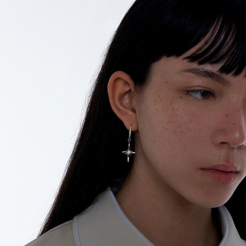 Kvk Diamond Temperament Cross Earrings V4