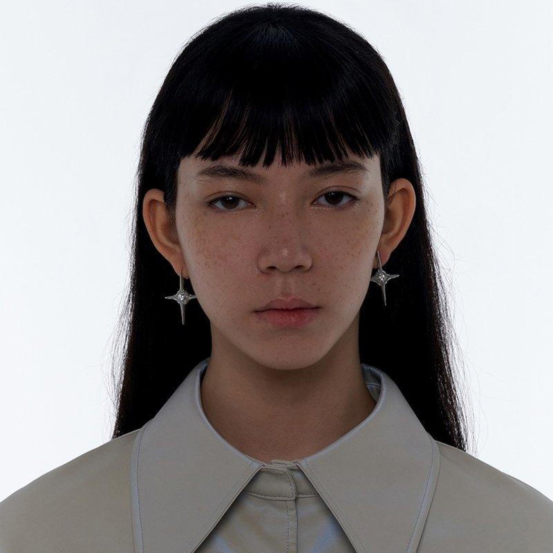 Kvk Diamond Temperament Cross Earrings V5