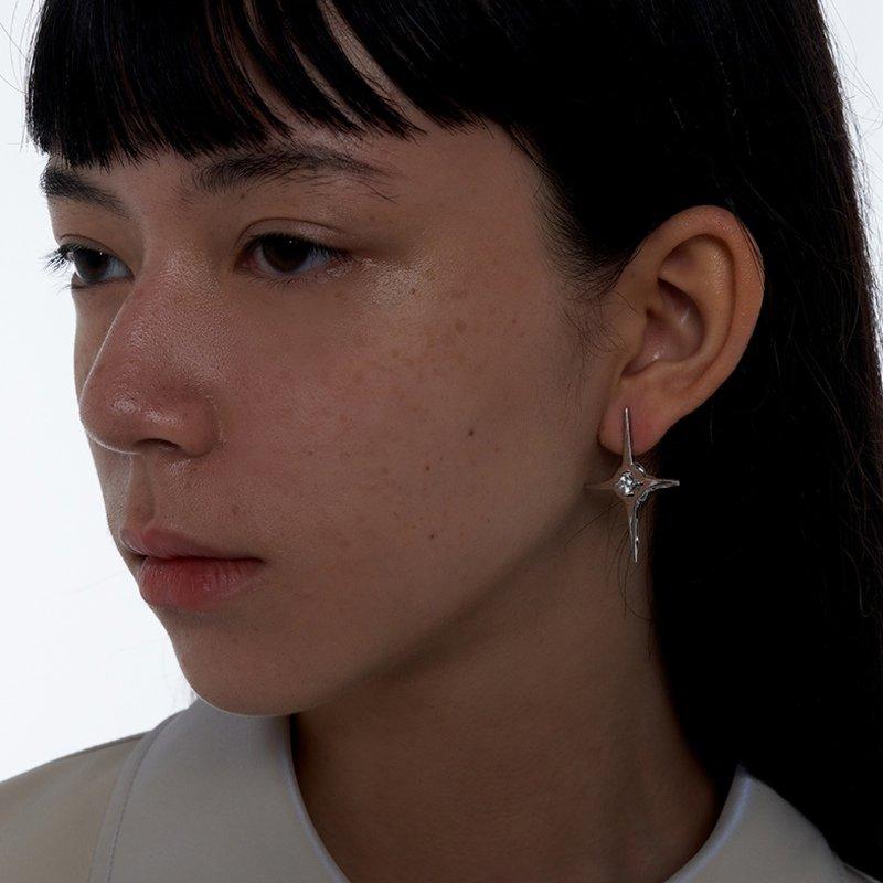 Kvk Diamond Temperament Cross Earrings V9