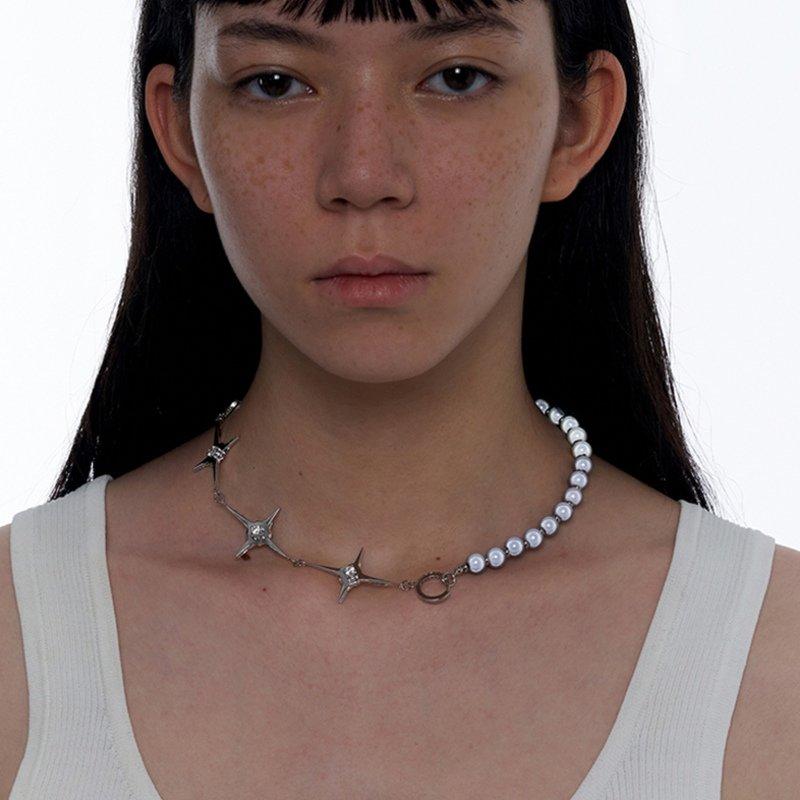 Kvk Stitch Orb Clavicle Necklace V5