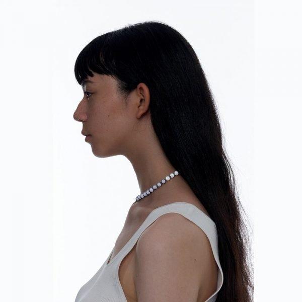 Kvk Stitch Orb Clavicle Necklace V8