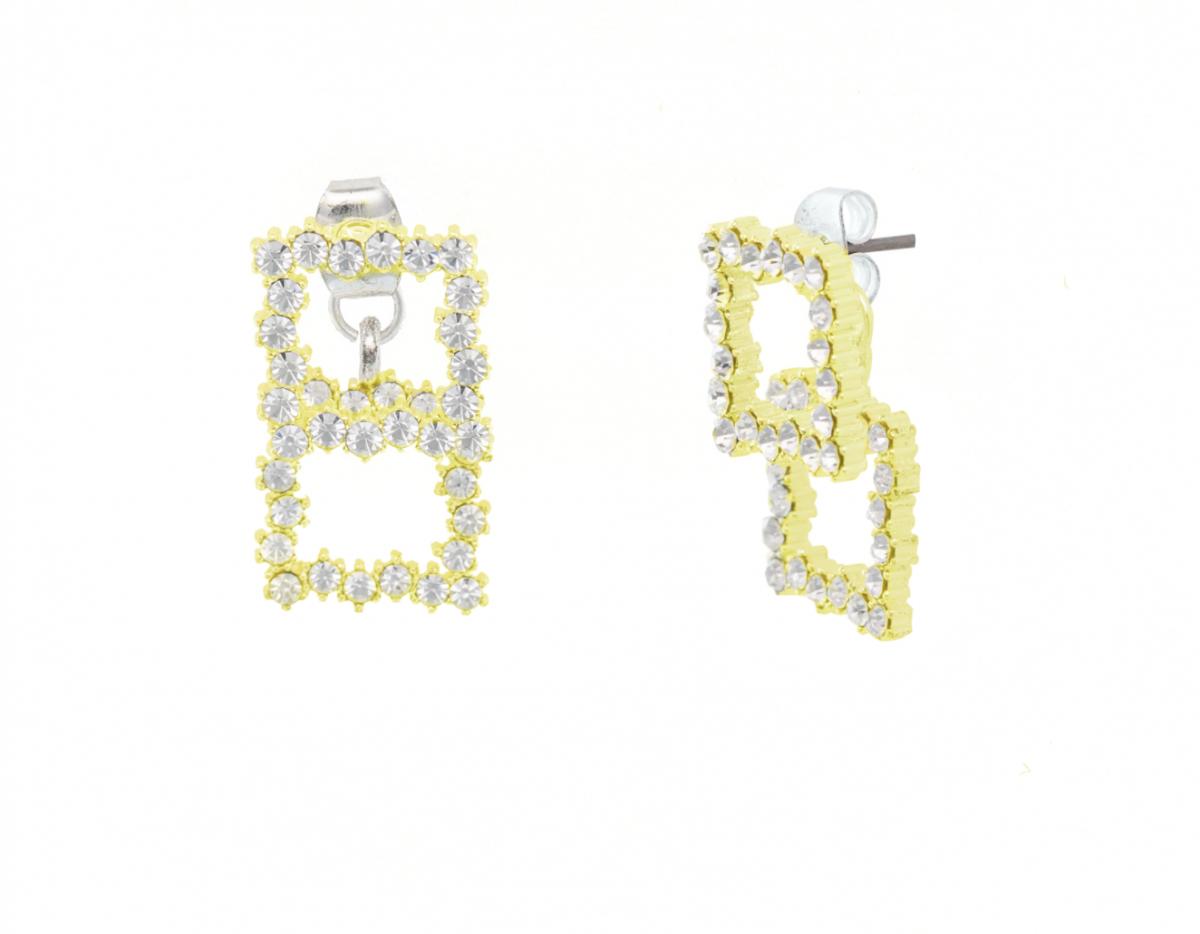 ABYB Squared Diamond Earrings