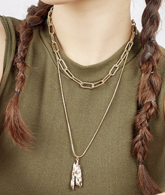 ABYB Double Layer Simple Stack Necklace