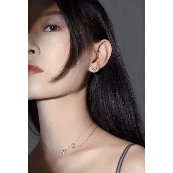 Yvmin Heart Shaped Double Clavicle Chain V4