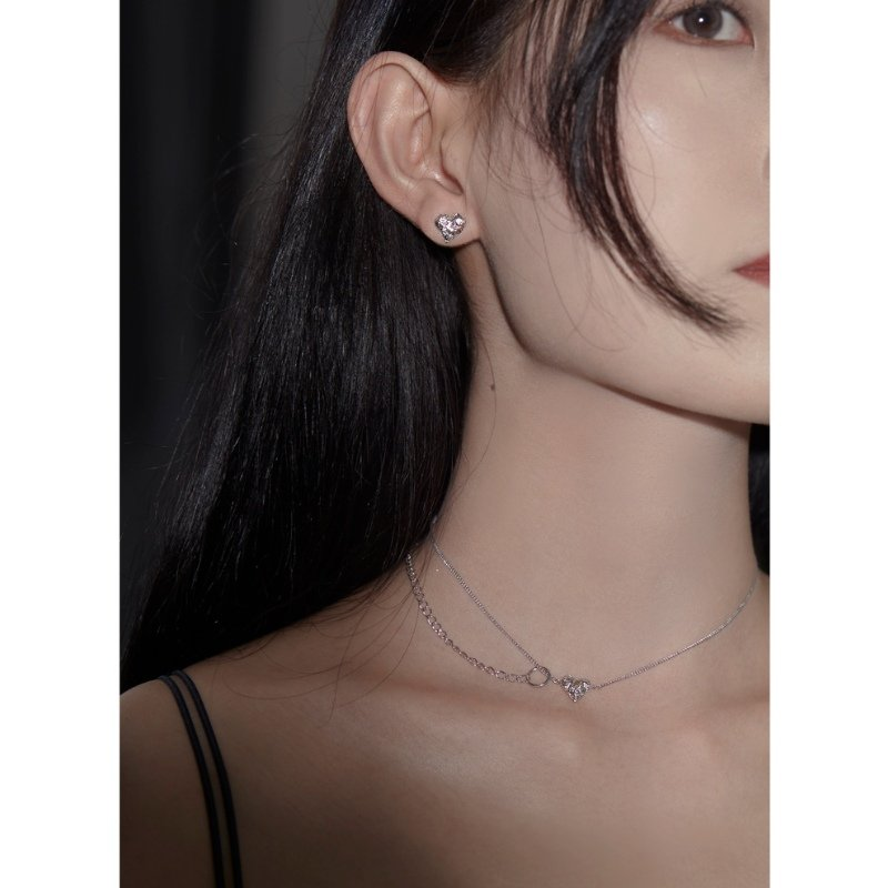 Yvmin Heart Shaped Double Clavicle Chain V5