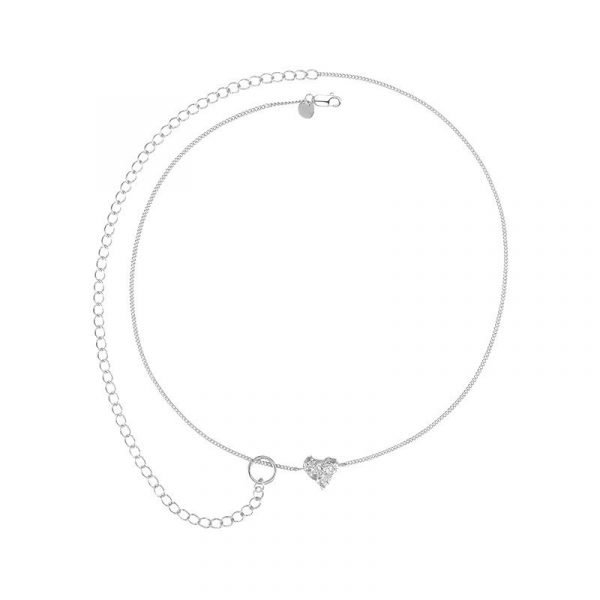 Yvmin Heart Shaped Double Clavicle Chain V6