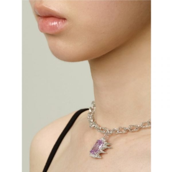Yvmin Purple Ice Necklace V5