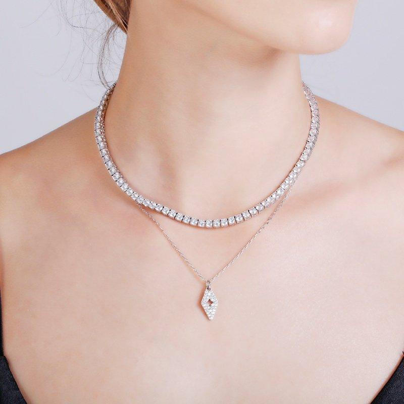 Abyb Diamond Collarbone Chain V5