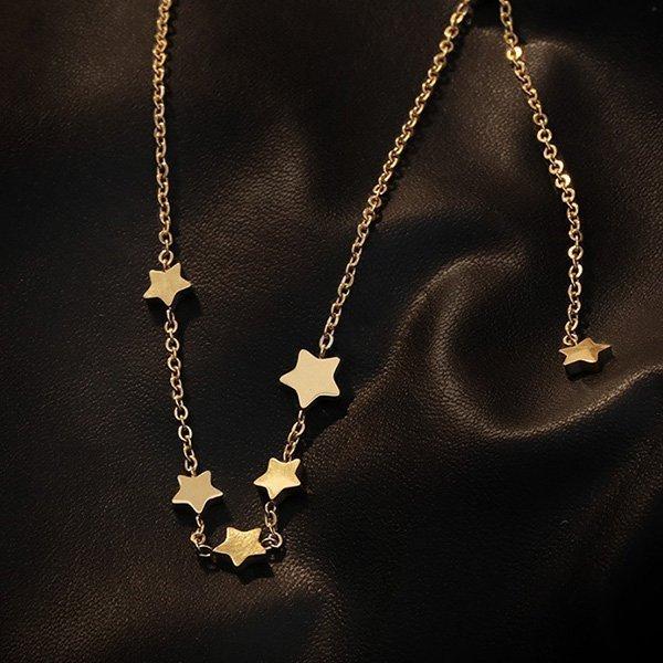 1K20 Tassel Five-star Collarbone Necklace