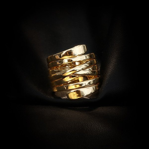 K20 Exaggerated Gold Rings