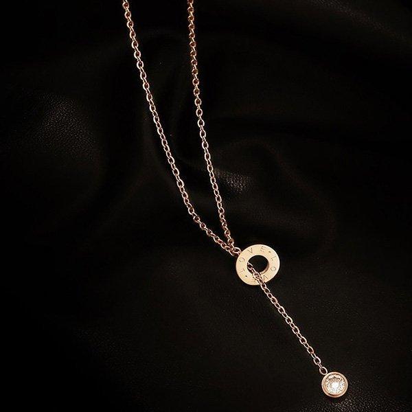 K20 Tassel Single Diamond Necklace