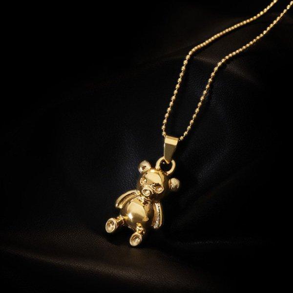 K20 Bear Pendant Long Necklace