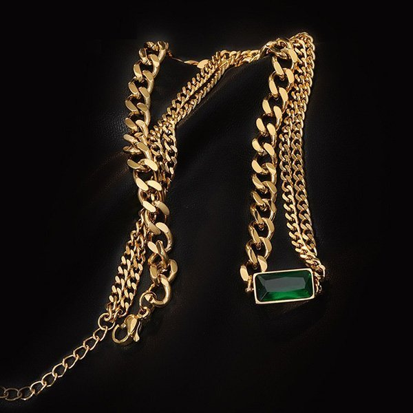 K20 Personality Green Ghost Necklace