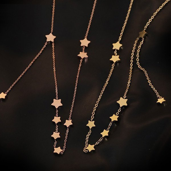 K20 Tassel Five-star Collarbone Necklace