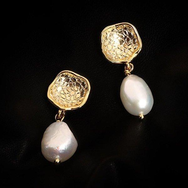 1K20 Baroque Pearl Earrings