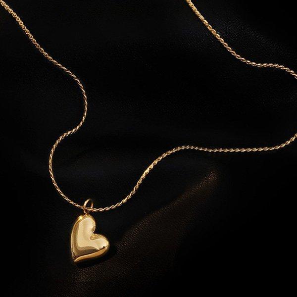 K20 Temperament Simple Heart Necklace