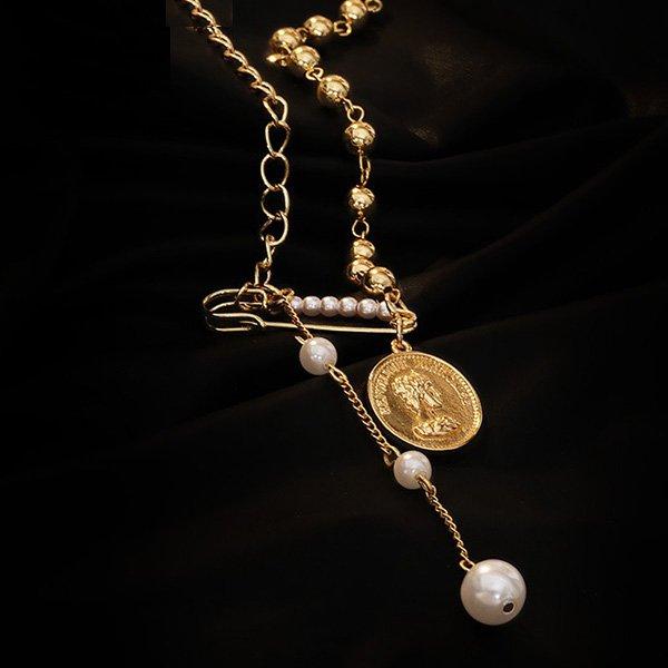 K20 luxury Tassel Pearl Queen Necklace