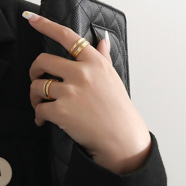 K20 Fashionable Double Layer Rings