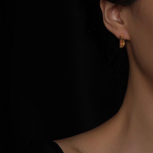 K20 Gold Geometric Earrings