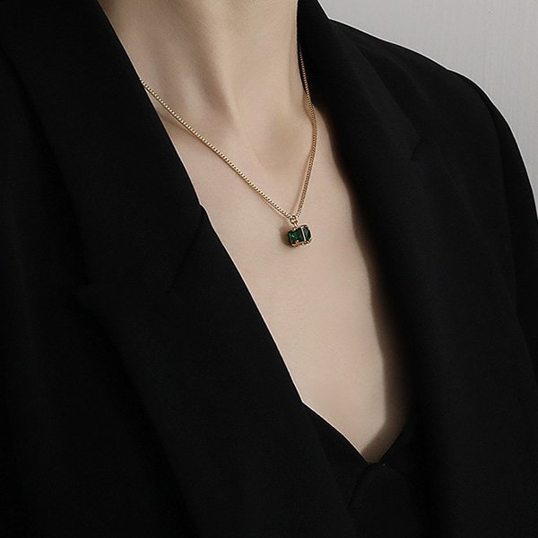 K20 Green Ghost Long Necklace
