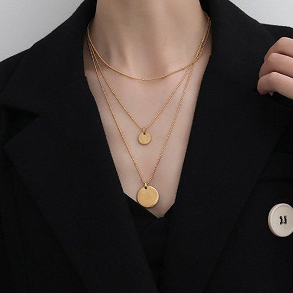 K20 Medium Long Chain Third-layer Necklace