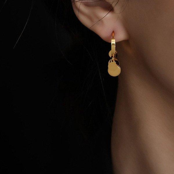 K20 Circle Tassels Earrings