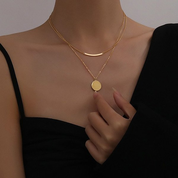 K20 Retro Double-layer Clavicle Necklace