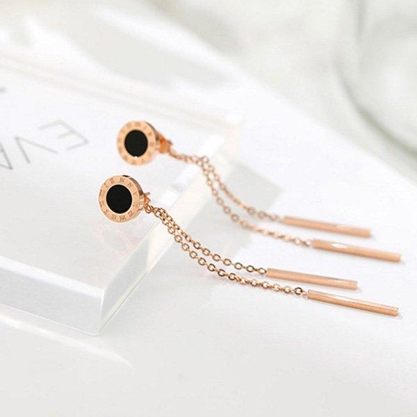 K20 Tassel Color Gold Earrings