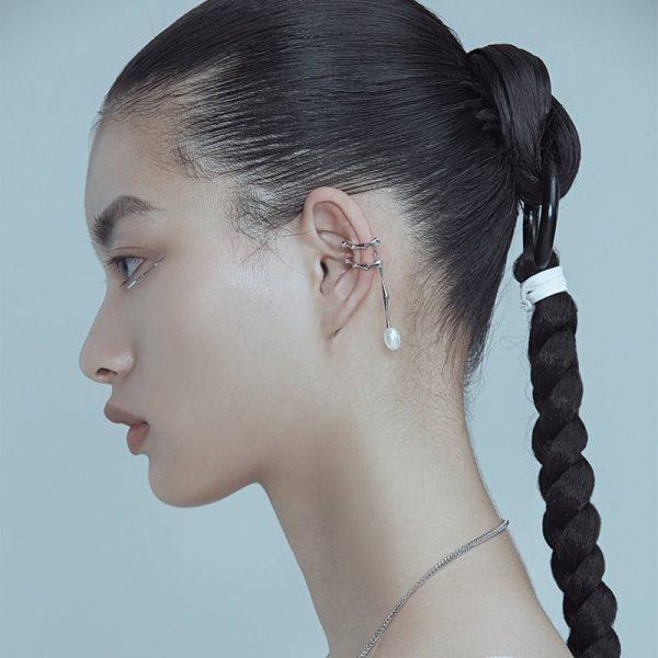 KVK Droplet Earrings Clip-on