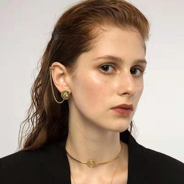 OOAK Double-sided Woolf Earrings