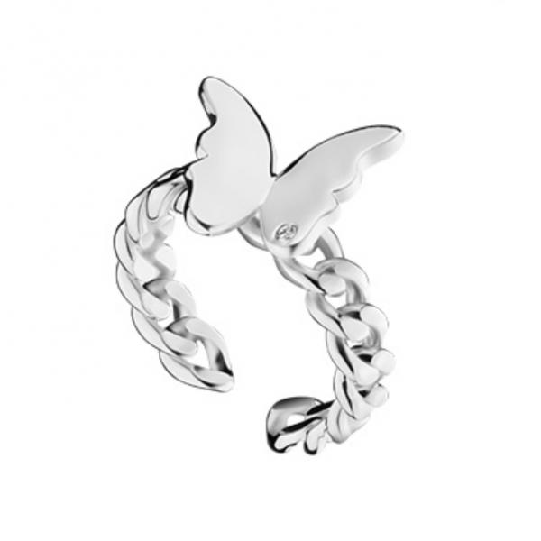 OOAK Butterfly Mirror Ring